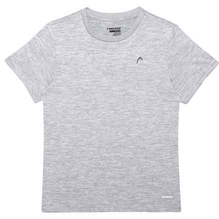 Head Space-Dye Hypertek® T-Shirt - Crew Neck, Short Sleeve (For Big Boys) in Sleet Heather - Closeouts