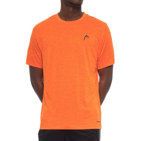 Head Space-Dye Hypertek T-Shirt - Short Sleeve (For Men) in Red Orange Heather