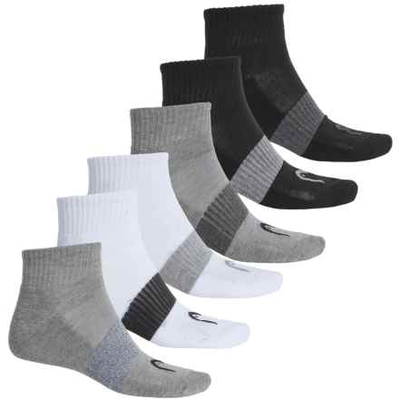 Head Sport Socks - 6-Pack, Quarter Crew (For Men) in Basic Multi - Closeouts