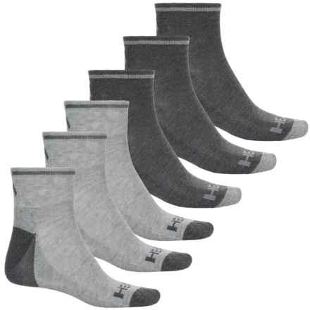 Head Sport Socks - 6-Pack, Quarter Crew (For Men) in Gray - Closeouts