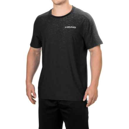 Head Stage Crew T-Shirt - Short Sleeve (For Men) in Black Heather - Closeouts