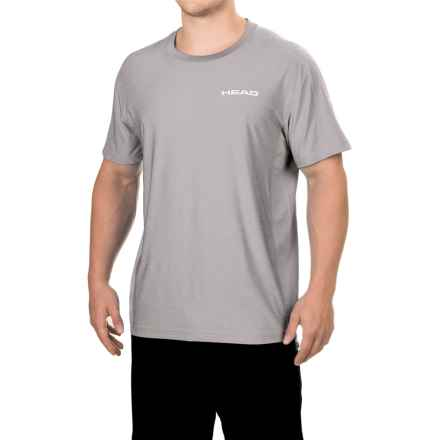 Head Stage Crew T-Shirt - Short Sleeve (For Men) in Sleet Heather - Closeouts