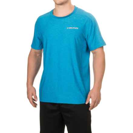 Head Stage Crew T-Shirt - Short Sleeve (For Men) in Vibrant Blue Heather - Closeouts