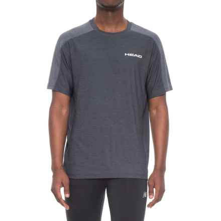 Head Stage T-Shirt - Crew Neck, Short Sleeve (For Men) in Ebony Heather - Closeouts
