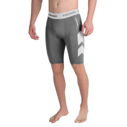 Head Stratus Compression Shorts (For Men) in Asphalt Heather - Closeouts