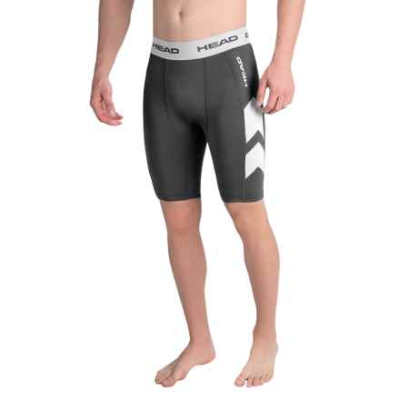 Head Stratus Compression Shorts (For Men) in Black Heather - Closeouts