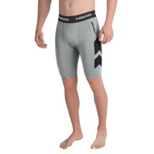 Head Stratus Compression Shorts (For Men) in Grey Heather - Closeouts