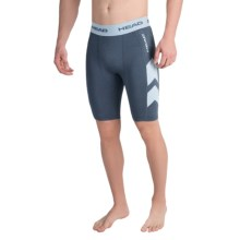 Head Stratus Compression Shorts (For Men) in Nightshadow Blue Heather - Closeouts