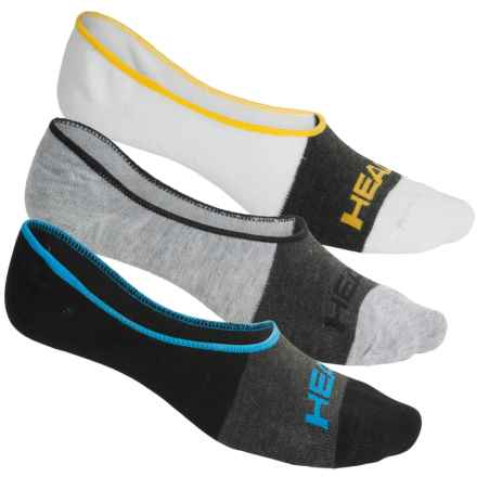 Head Swift-Dry® Liner Socks - 3-Pack, Below the Ankle (For Men) in White/Grey/Black - Closeouts