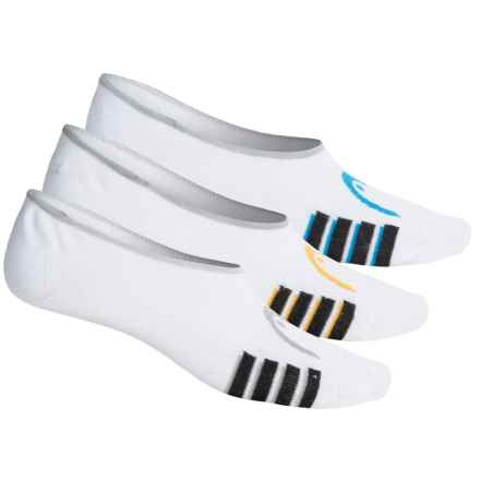 Head Swift-Dry® Liner Socks - 3-Pack, Below the Ankle (For Men) in White - Closeouts