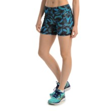 "Head Tachisme Compression Shorts - 5"" (For Women) in Catalina Blue - Closeouts"