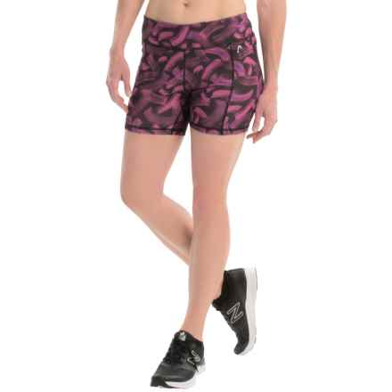 "Head Tachisme Compression Shorts - 5"" (For Women) in Rose Violet - Closeouts"