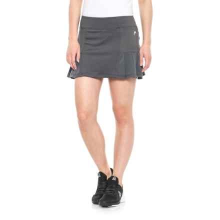 Head Tennis Skort - Pleated (For Women) in Medium Grey - Closeouts