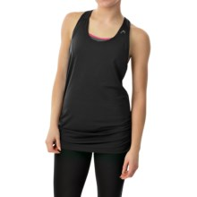 Head Textured Tank Top - Loose Fit, Racerback (For Women) in Black - Closeouts