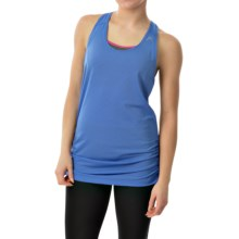 Head Textured Tank Top - Loose Fit, Racerback (For Women) in Catalina Blue - Closeouts