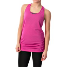 Head Textured Tank Top - Loose Fit, Racerback (For Women) in Rose Violet - Closeouts