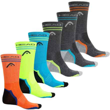 Head Tipped Arch Support Socks - 6-Pack, Crew (For Men) in Multi - Closeouts