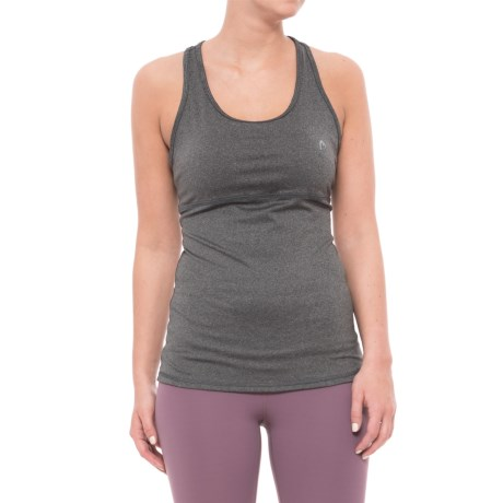 Head Valiant Tank Top - Shelf Bra, Removable Cups (For Women) in Charcoal Heather
