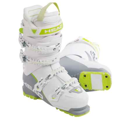 Head Vector EVO 110 Alpine Ski Boots (For Women) in White/Anthracite/Green - Closeouts