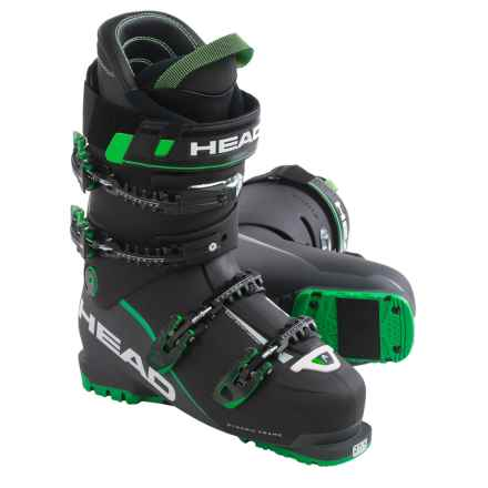 Head Vector EVO 120 Alpine Ski Boots (For Men) in Black/Anthracite/Green - Closeouts