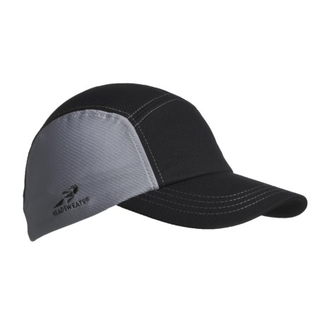 Headsweats CoolMax® Race Hat (For Men and Women) in Black/Grey