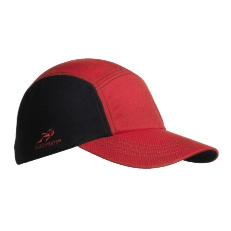 Headsweats CoolMax® Race Hat (For Men and Women) in Red/Black