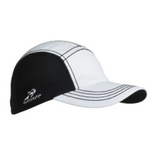 Headsweats CoolMax® Race Hat (For Men and Women) in White/Black - Closeouts