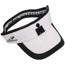 Headsweats Ironman Supervisor CoolMax® Running Visor (For Men and Women) in White W/Black Trim - Closeouts