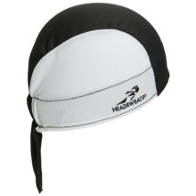Headsweats Shorty Skull Cap - CoolMax® in 847 White/Black - Closeouts