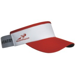 Headsweats Supervisor Running Visor Hat (For Men and Women) in Red/White