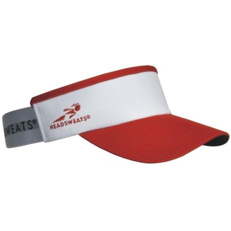 Headsweats Supervisor Running Visor Hat (For Men and Women) in Red/White