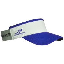 Headsweats Supervisor Running Visor Hat (For Men and Women) in Royal/White - Closeouts