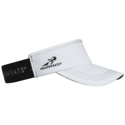Headsweats Supervisor Running Visor Hat (For Men and Women) in White/White