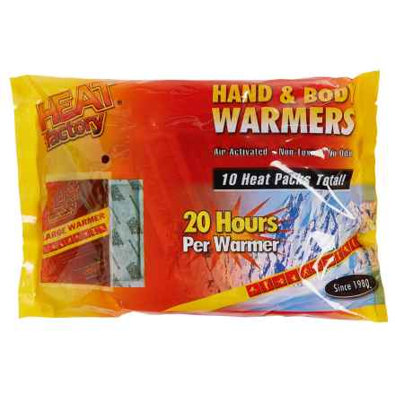 Heat Factory Hand and Body Warmers - Big 10-Pack in See Photo - Closeouts
