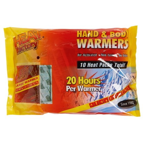 Heat Factory Hand and Body Warmers - Big 10-Pack