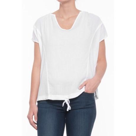 Heather Sylvie Twill Voile Blouse - Sleeveless (For Women) in White