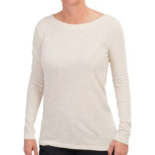 Heathered Boat Neck Shirt - Long Sleeve (For Women) in Cream - 2nds