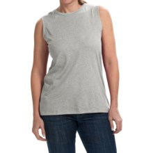 Heathered Cotton-Modal Blend Shirt - Sleeveless (For Women) in Grey - 2nds