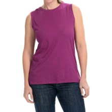 Heathered Cotton-Modal Blend Shirt - Sleeveless (For Women) in Heather Purple - 2nds