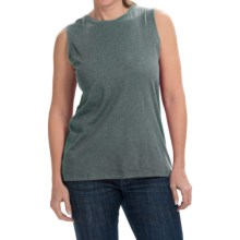 Heathered Cotton-Modal Blend Shirt - Sleeveless (For Women) in Shadow Grey - 2nds