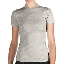 Heathered Crew Neck T-Shirt - Cotton, Short Sleeve (For Women) in Heather Grey - 2nds