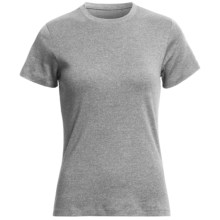 Heathered Favorite T-Shirt - Crew Neck, Short Sleeve (For Women) in Grey Heather - 2nds