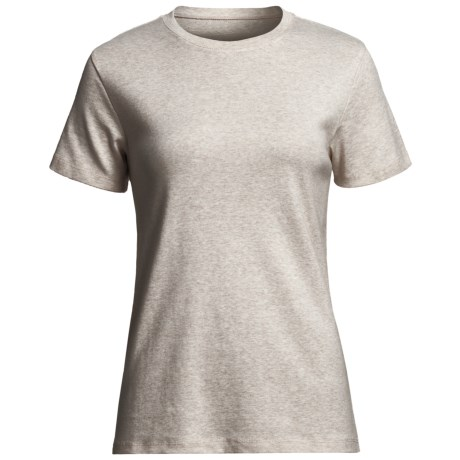 Heathered Favorite T-Shirt - Crew Neck, Short Sleeve (For Women) in Natural Heather/Light Grey