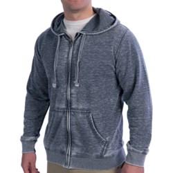 Heathered Hoodie Sweatshirt - Zip Front (For Men) in Gray