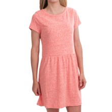 Heathered Knit Dress - Short Sleeve (For Women) in Bright Tam - 2nds