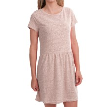Heathered Knit Dress - Short Sleeve (For Women) in Panama B - 2nds