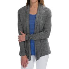 Heathered Knit Open-Front Cardigan Sweater (For Women) in Grey - 2nds