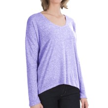 Heathered Knit Shirt - Long Sleeve (For Women) in Blue - 2nds