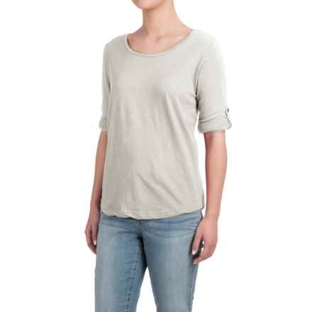 Heathered Shirt - Long Sleeve (For Women) in Beige - 2nds