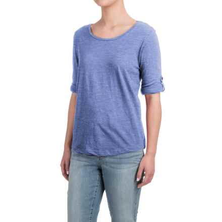 Heathered Shirt - Long Sleeve (For Women) in Navy - 2nds